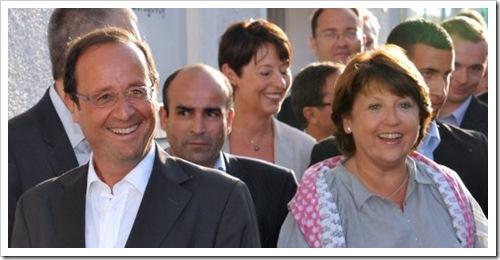 Hollande et Aubry