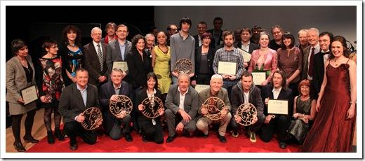 Cérémonie des PRIZIOU 2012, Rennes auditorium des champs Libres. - - - - - -photo Charles Crié- - - - -